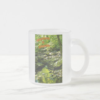 """""""Secluded Stream"""" Frosted Glass Mug"""