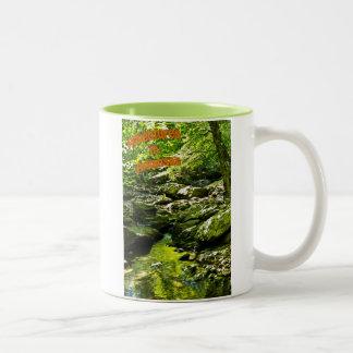 Secluded Stream Two-Tone Coffee Mug