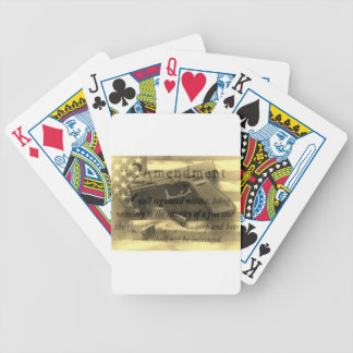 Second Amedment Bicycle Playing Cards