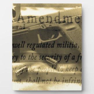 Second Amedment Display Plaques