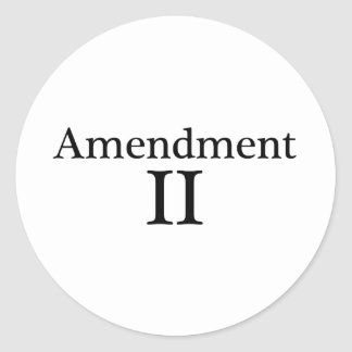 Second Amendment Apparel Classic Round Sticker