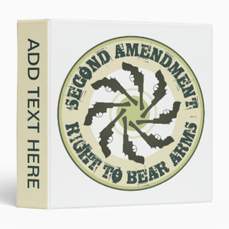 Second Amendment Vinyl Binders