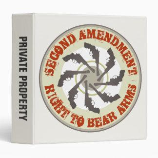 Second Amendment 3 Ring Binder