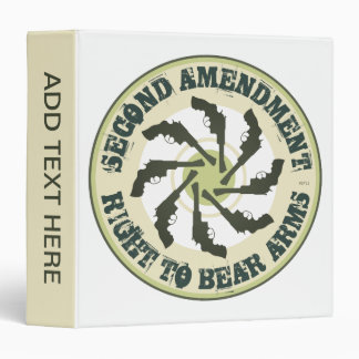 Second Amendment 3 Ring Binders