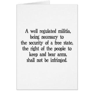Second Amendment Card