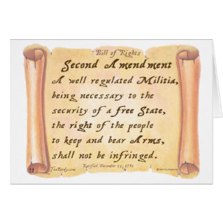 Second Amendment Greeting Card