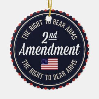 Second Amendment Ceramic Ornament