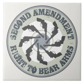 Second Amendment Ceramic Tile