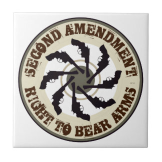 Second Amendment Ceramic Tile