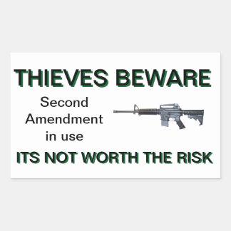 Second Amendment Colt AR-15 security sticker