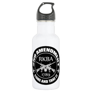 Second Amendment Come And Take It RKBA AR's 18oz Water Bottle