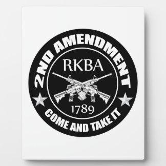 Second Amendment Come And Take It RKBA AR's Photo Plaques