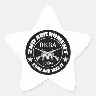 Second Amendment Come And Take It RKBA AR's Star Sticker