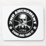 Second Amendment Come and Take It Skull and AR's Mousepads