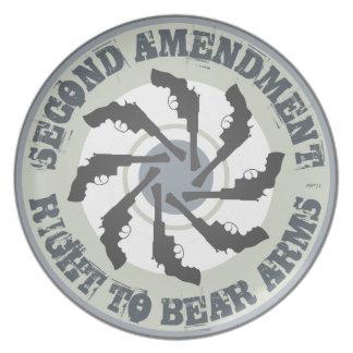 Second Amendment Dinner Plate