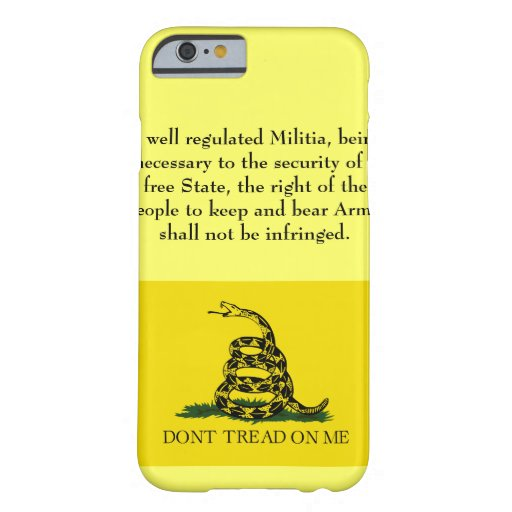 Second Amendment - Don't Tread on Me iPhone 6 Case