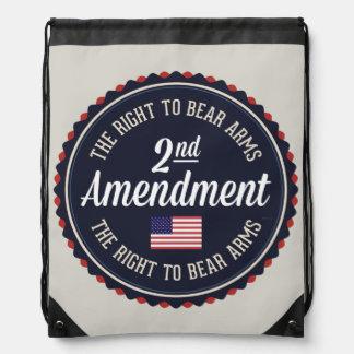 Second Amendment Drawstring Backpack
