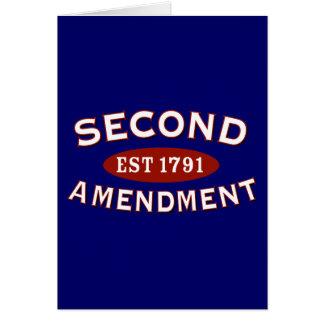 Second Amendment Est. 1791 Greeting Card