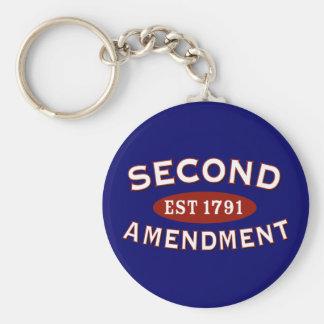 Second Amendment Est. 1791 Keychain