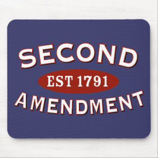 Second Amendment Est 1791 Mousepads
