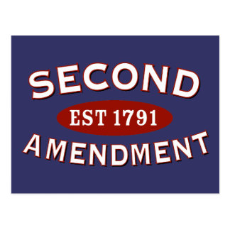 Second Amendment Est 1791 Postcard