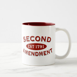 Second Amendment Est 1791 Two-Tone Coffee Mug