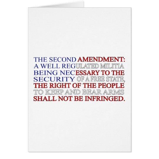 Second Amendment Flag Card