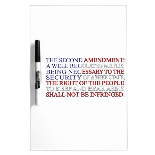 Second Amendment Flag Dry Erase Board