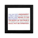 Second Amendment Flag Keepsake Boxes
