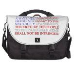 Second Amendment Flag Laptop Messenger Bag