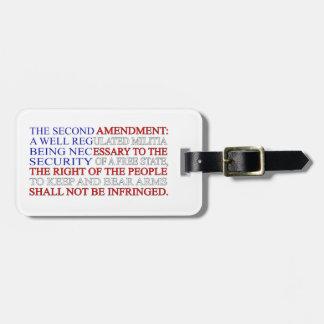 Second Amendment Flag Luggage Tag