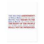 Second Amendment Flag Postcard