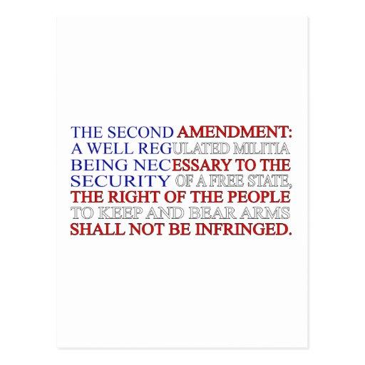 Second Amendment Flag Postcards