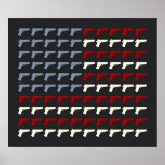 Second Amendment Flag Poster