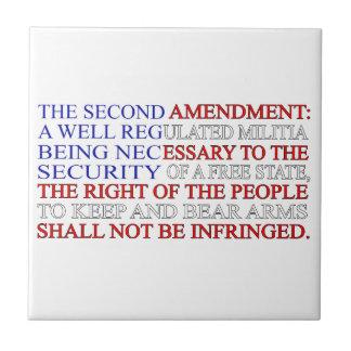 Second Amendment Flag Tiles