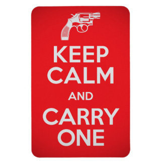 Second Amendment Keep Calm and Carry One Magnet
