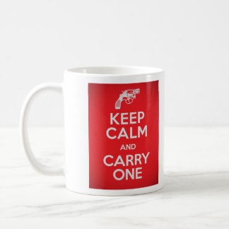 Second Amendment Keep Calm and Carry One Mug