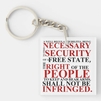 Second Amendment Key Chain