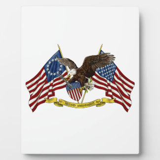Second Amendment Liberty Eagle Display Plaque