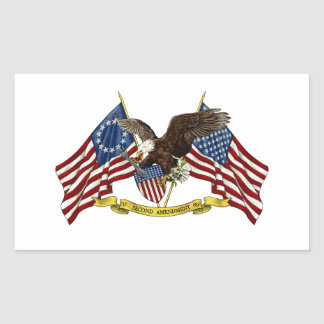 Second Amendment Liberty Eagle Rectangular Sticker
