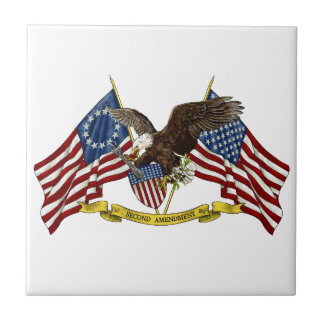 Second Amendment Liberty Eagle Tile