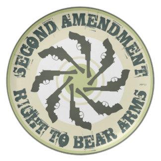 Second Amendment Melamine Plate