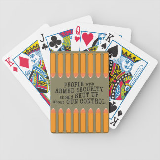 Second Amendment message playing cards