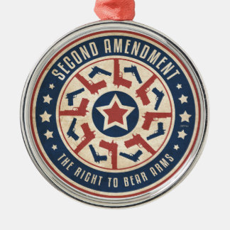 Second Amendment Metal Ornament
