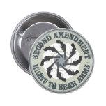Second Amendment Pinback Buttons