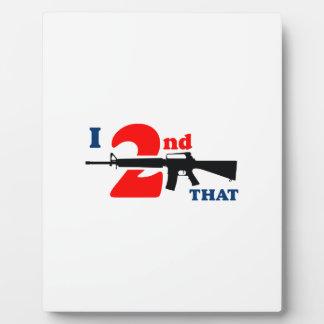 Second Amendment Photo Plaque