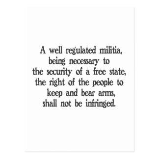 Second Amendment Postcard