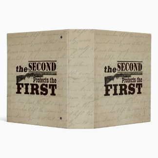 Second Amendment Protects First Amendment 3 Ring Binder