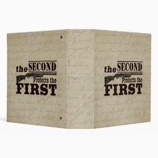 Second Amendment Protects First Amendment 3 Ring Binder