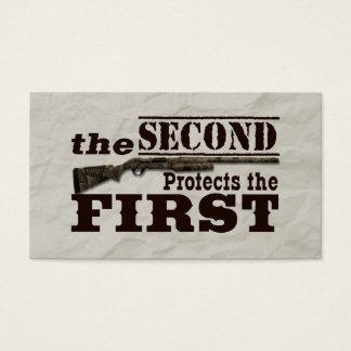 Second Amendment Protects First Amendment Business Card
